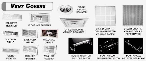 HVAC Registers - Supply and Return air grills.